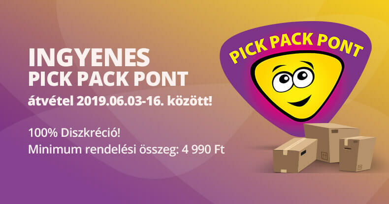 Ingyenes Pick Pack Pont átvétel!