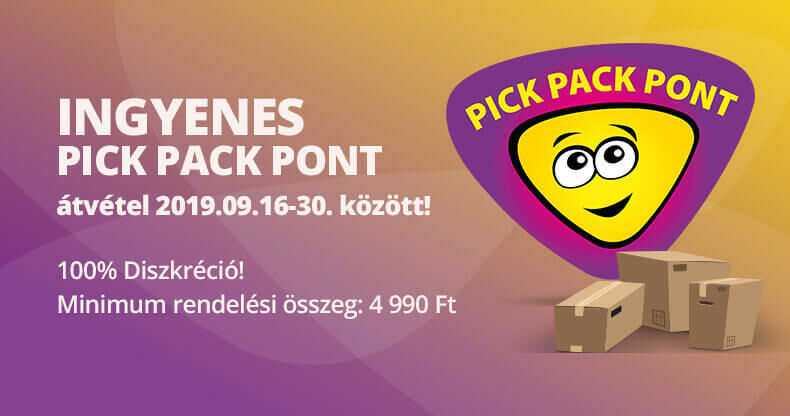 Ingyenes Pick Pack csomagátvétel!