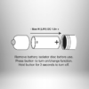 Bubble Plug - gömbös anál dildó vibrátorral (lila)
