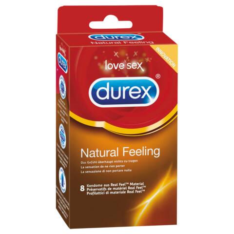 Durex Natural Feeling - latexmentes óvszer (8db)
