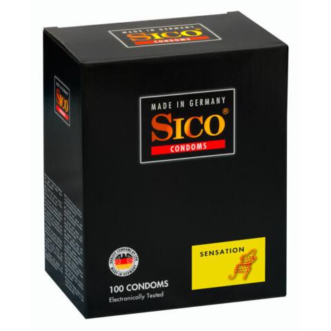 SICO Sensation - bordás, gömbös óvszer (100db)