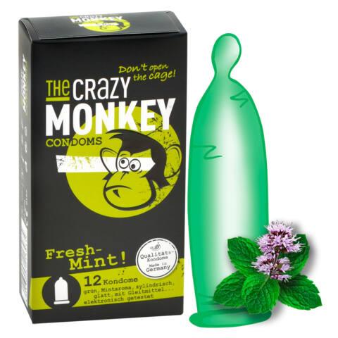 Crazy Monkey - mentolos óvszer (12db)