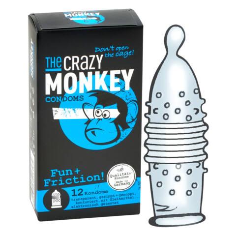 Crazy Monkey - bordás, gömbös óvszer (12db)