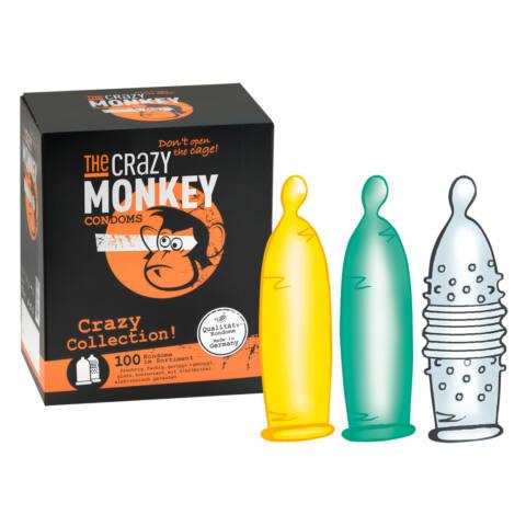 Crazy Monkey Collection - óvszer válogatás (100db)