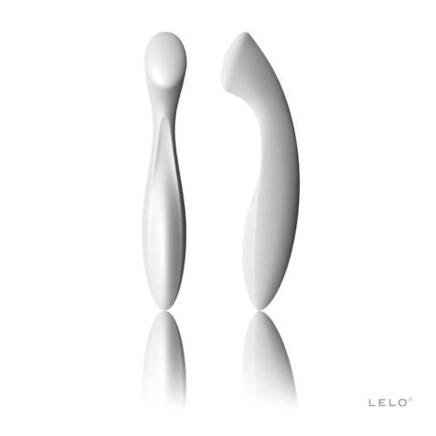 LELO Ella - kétvégű dildó (fehér)