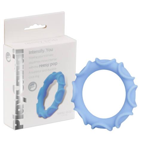 PlayCandi Reesy Pop - tüskés péniszgyűrű (kék)