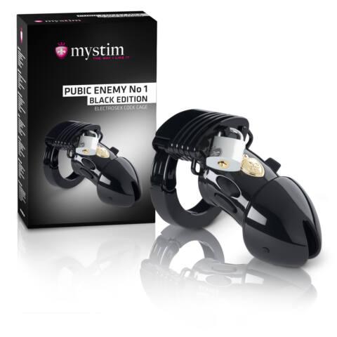 mystim Black Edition PUBIC ENEMY No 1 - elektro péniszketrec
