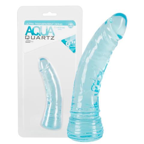 Aqua Quartz - hajlított, klasszikus dildó (15cm)