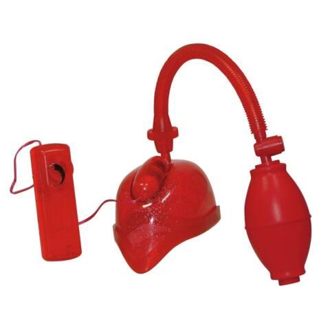 Vibrációs vaginaszívó - vörös, csillámos