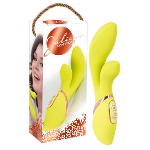 Jülie - Klitoriszkaros vibrátor (sárgászöld)