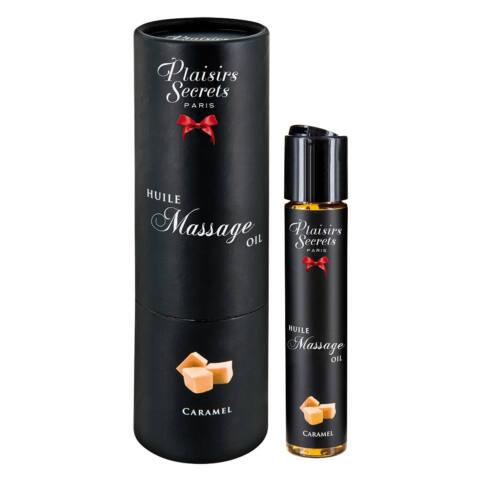 Plaisirs Secrets Caramel - melegítős masszázsolaj (59ml)