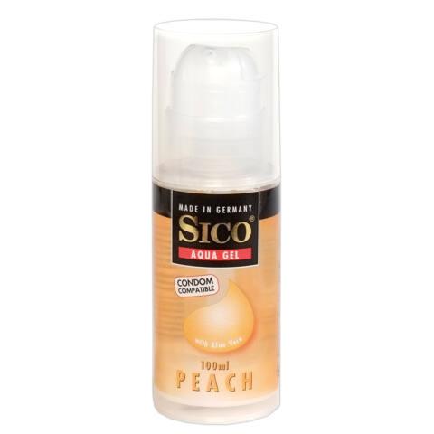 SICO Peach - barackos, vízbázisú síkosító gél (100ml)