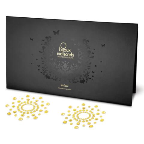 Csillogó gyémántok bimbómatrica (arany)