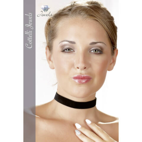 Cottelli - Bársonyszalag nyakpánt (fekete)