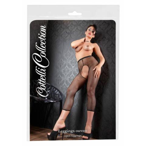 Cottelli - aprószemű necc legging (fekete)
