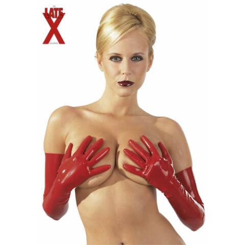 Latex kesztyű - vörös