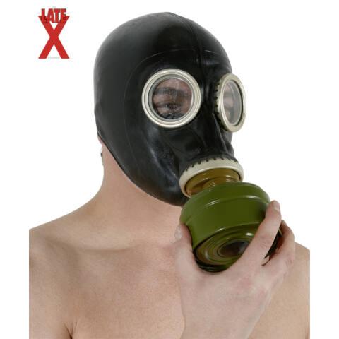 Latex gázmaszk - fekete