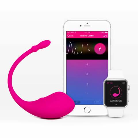 LOVENSE Lush - újratölthető vibrotojás (pink)