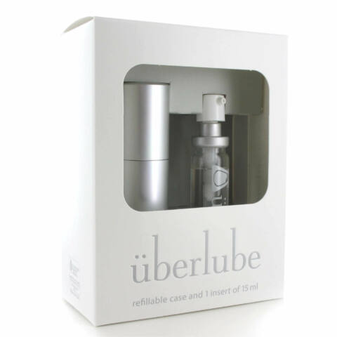 Überlube - utazó tokos szilikonos síkosító - ezüst (15ml)