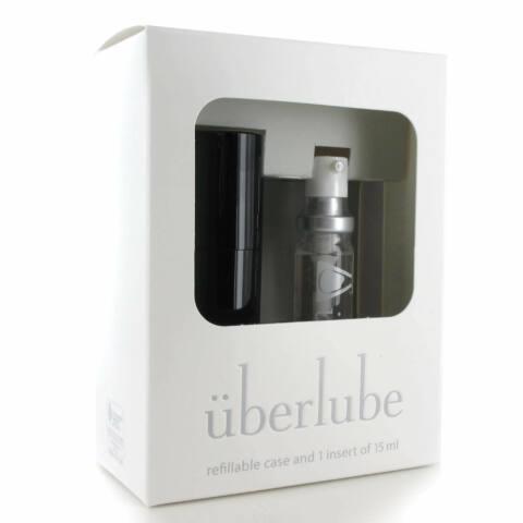 Überlube - utazó tokos szilikonos síkosító - fekete (15ml)