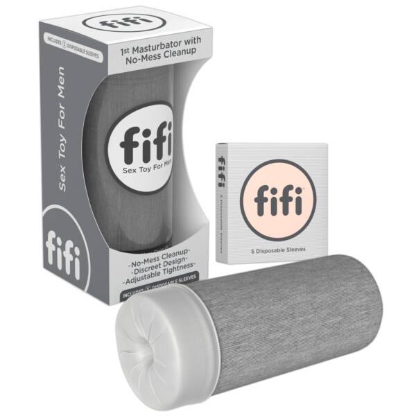 FIFI - maszturbátor mandzsettával (szürke)