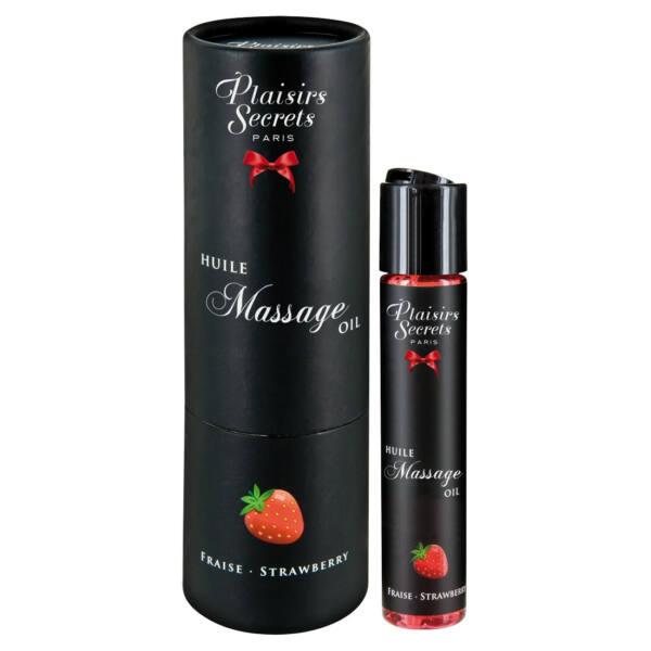 Plaisirs Secrets Strawberry - melegítős masszázsolaj (59ml)
